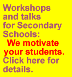 Lecture Service for Secondary Schools - We help to motivate your students. Click for details